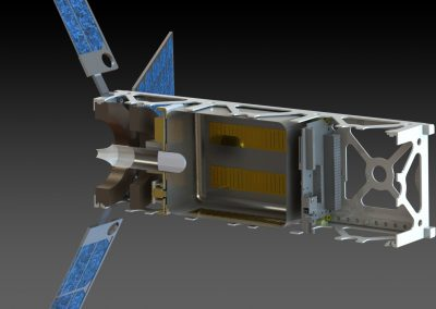 A CAD rendering of a proposed Cubesat incorporating CAT.