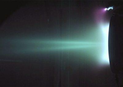 Photograph of the NASA-173Mv2 operating at 300 V, 10 mg/s